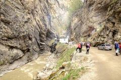 Chegem峡谷 大横向山山 库存照片