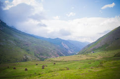 Chegem. Training base for paragliding in the Elbrus region Stock Photography