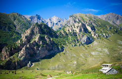 Chegem. Training base for paragliding in the Elbrus region Royalty Free Stock Images