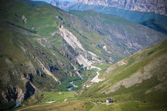 Chegem. Training base for paragliding in the Elbrus region Royalty Free Stock Image