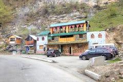 Chegem wąwóz duże krajobrazowe halne góry Zdjęcia Royalty Free