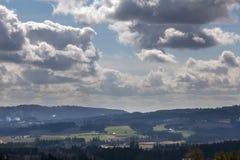 Chehalem góry i Tualatin Rzeczny Dolinny widok Obrazy Royalty Free