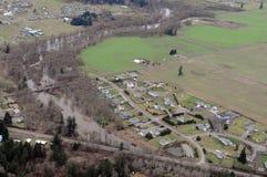 Chehalis flod, staten Washington Arkivbilder