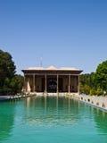 Chehel Sotoun (Sotoon) slott som byggs av schah Abbas II, Esfahan, Royaltyfri Foto