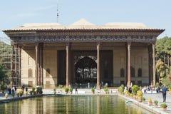 Chehel Sotun宫殿,伊斯法罕,伊朗,亚洲 免版税库存照片