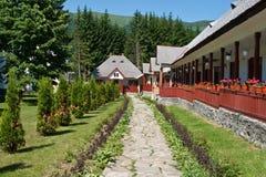 Cheia Monastery yard from Romania Royalty Free Stock Photo