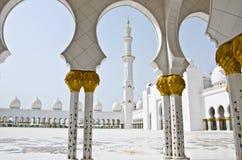 Cheik Zayed Mosque dans la ville de l'Abu Dhabi Photos libres de droits