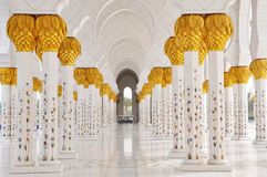 Cheik Zayed Mosque en Abu Dhabi Image libre de droits