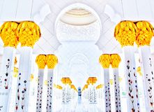 Cheikh zayed Abu Dhabi fotografie stock libere da diritti