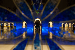 Cheikh zayed la grande moschea nell'Abu Dhabi Immagine Stock