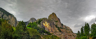 Cheile Bicaz panoramic view Royalty Free Stock Photos