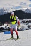 Cheile Gradistei, Roamania - 30-ое января: Неизвестный конкурент в биатлоне чемпионатов мира IBU Youth&Junior стоковые фото
