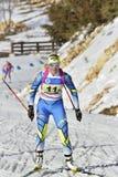Cheile Gradistei, Roamania - 30-ое января: Неизвестный конкурент в биатлоне чемпионатов мира IBU Youth&Junior стоковое изображение rf