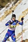 Cheile Gradistei, Roamania - 30 gennaio: Concorrente sconosciuto in IBU Youth& Junior World Championships Biathlon Immagini Stock Libere da Diritti