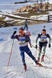 Cheile Gradistei, Roamania - Januari 30: Onbekende concurrent in IBU-de Jeugd Royalty-vrije Stock Fotografie