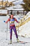 Cheile Gradistei, Roamania - Januari 30: Onbekende concurrent in IBU Youth& Junior World Championships Biathlon Stock Afbeeldingen