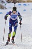 Cheile Gradistei, Roamania - Januari 30: Onbekende concurrent in IBU Youth& Junior World Championships Biathlon Stock Foto's