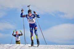 Cheile Gradistei, Roamania - January 28: Unknown competitor in IBU Youth&Junior World Championships Biathlon 24th of January 2016 Stock Image