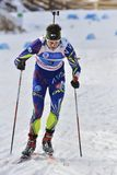 Cheile Gradistei, Roamania - January 30: Unknown competitor in IBU Youth&Junior World Championships Biathlon. Cheile Gradistei, Roamania - January 30 Stock Photos