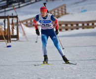 Cheile Gradistei, Roamania - January 30: Unknown competitor in IBU Youth&Junior World Championships Biathlon Stock Images