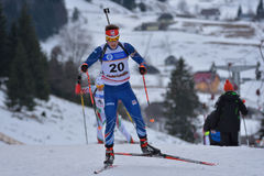 Cheile Gradistei, Roamania - January 28: Unknown competitor in IBU Youth&Junior World Championships Biathlon Royalty Free Stock Photo