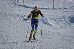 Cheile Gradistei, Rumänien - 24. Januar: Unbekannter Konkurrent in IBU Youth& Junior World Championships Biathlon 24. Lizenzfreie Stockbilder