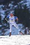 Cheile Gradistei Rumunia, Styczeń, - 30: Niewiadomy konkurent w IBU Youth&Junior mistrzostw Światowym Biathlon 24th Fotografia Royalty Free