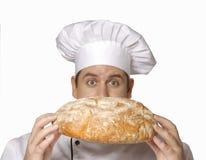 Cheirando meu pão Fotografia de Stock
