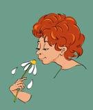 Cheiro da flor Fotografia de Stock Royalty Free