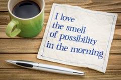 Cheiro da possibilidade na manhã Imagens de Stock