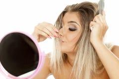 Cheiro do cabelo imagens de stock