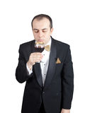 Cheiro do vinho Imagem de Stock