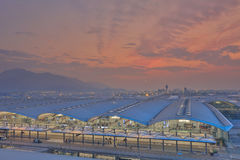 Chek膝部Kok机场,香港 免版税库存照片
