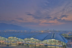 Chek膝部Kok机场,香港 免版税库存图片
