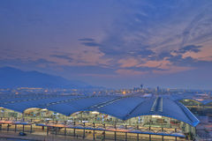Chek膝部Kok机场,香港 库存照片