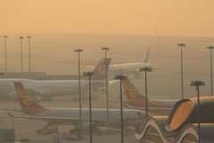 Chek膝部Kok机场,香港 库存图片