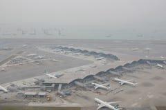 Chek膝部Kok机场, HK hight视图  免版税图库摄影