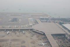 Chek膝部Kok机场, HK hight视图  图库摄影