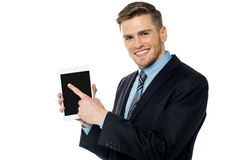 Chek out this new cool tablet device Stock Image