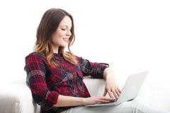 Cheking e-mails Royalty Free Stock Images