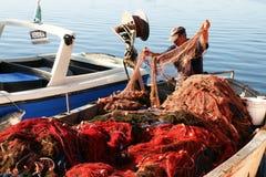 Cheking the nets Stock Photography