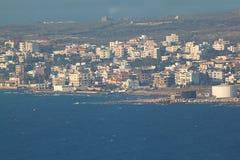 Chekka海岸在黎巴嫩 免版税图库摄影