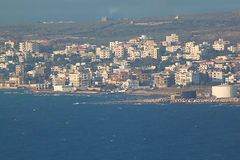 Chekka kust i Libanon Royaltyfri Fotografi