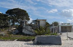 chelem的墨西哥海滨别墅 免版税图库摄影