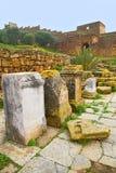 chellah в Марокко ухудшило памятник Стоковая Фотография