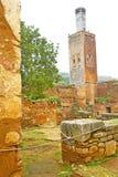 chellah herein   das alte römische Monument und der Standort Lizenzfreies Stockfoto