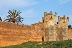 Chellah - roman buildings in Morocco Royalty Free Stock Photos