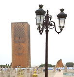 chellah w Morocco Africa miejscu i latarni ulicznej obraz royalty free