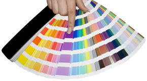 Échelle de couleurs Photos libres de droits