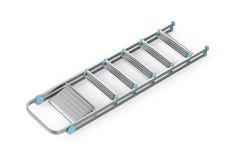 Échelle en aluminium pliée Images libres de droits